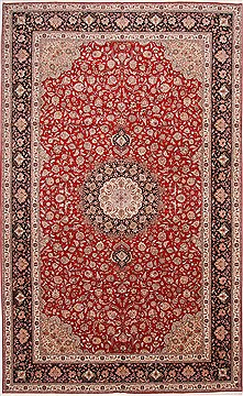 "Tabriz Blue Hand Knotted 9'9"" X 15'10""  Area Rug 254-29176"