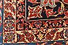 Isfahan Red Hand Knotted 99 X 129  Area Rug 254-29195 Thumb 1