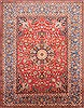 Isfahan Red Hand Knotted 99 X 129  Area Rug 254-29195 Thumb 0