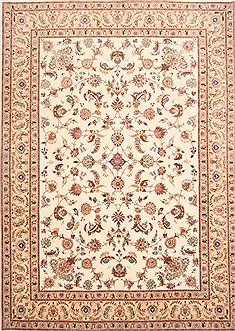 "Tabriz Beige Hand Knotted 8'3"" X 11'8""  Area Rug 254-29224"