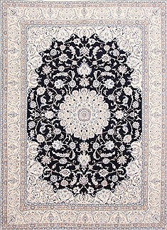 "Nain Blue Hand Knotted 8'4"" X 11'6""  Area Rug 254-29237"