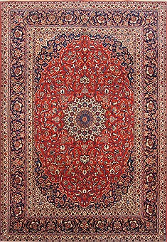 "Tabriz Red Hand Knotted 8'5"" X 12'2""  Area Rug 254-29241"