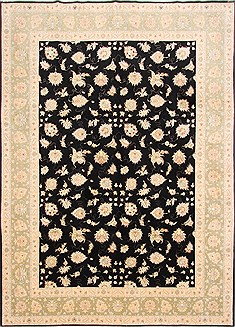 Persian Tabriz Beige Rectangle 8x11 ft Wool Carpet 29251
