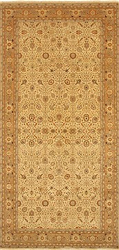 Indian Haji Jalili Beige Rectangle 8x11 ft Wool Carpet 29267