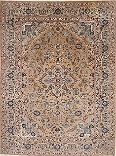 "Kashan Blue Hand Knotted 10'0"" X 13'3""  Area Rug 254-29310"