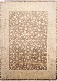 Persian Tabriz Beige Rectangle 10x13 ft Wool Carpet 29320
