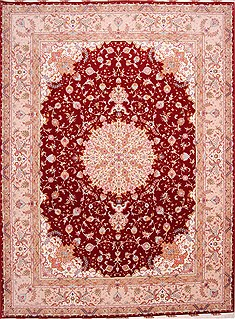 "Tabriz Purple Hand Knotted 10'0"" X 13'3""  Area Rug 254-29352"