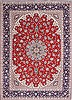 Isfahan Red Hand Knotted 100 X 1310  Area Rug 254-29354 Thumb 0