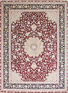 "Tabriz Green Hand Knotted 9'10"" X 13'5""  Area Rug 254-29356"