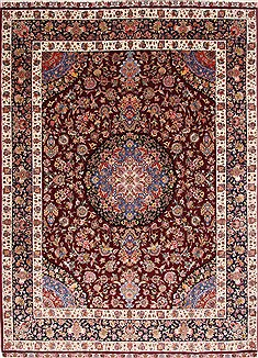 Persian Tabriz Red Rectangle 10x13 ft Wool Carpet 29358