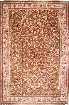 Indian Indo-Persian Beige Rectangle 12x18 ft Wool Carpet 29405