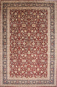 "Tabriz Beige Hand Knotted 11'10"" X 18'1""  Area Rug 254-29410"