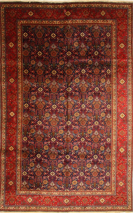 Persian Tabriz Beige Rectangle 10x14 Ft Wool Carpet 29448