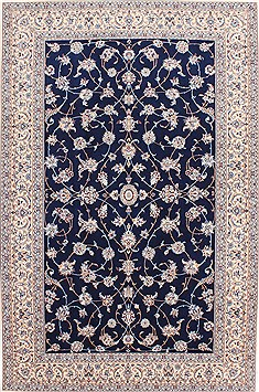 "Nain Beige Hand Knotted 5'2"" X 8'0""  Area Rug 254-29517"