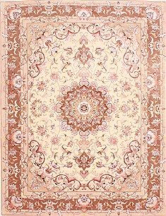 Persian Tabriz Purple Rectangle 5x7 ft Wool Carpet 29555