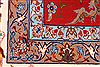 Isfahan Red Hand Knotted 61 X 113  Area Rug 254-29586 Thumb 5