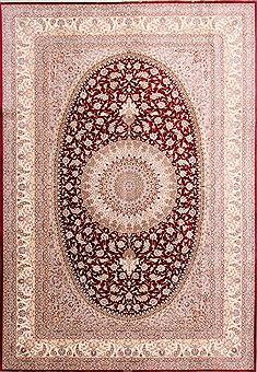 "Qum Beige Hand Knotted 8'2"" X 11'8""  Area Rug 254-29601"