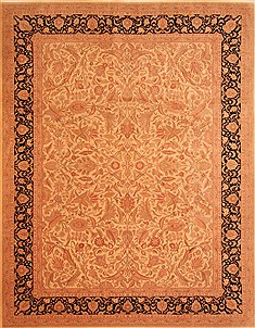 "Tabriz Brown Hand Knotted 9'0"" X 12'0""  Area Rug 100-29615"