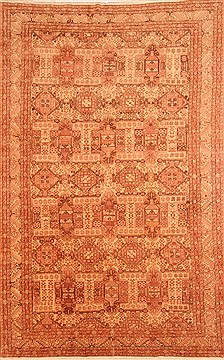 "Kayseri Brown Hand Knotted 7'9"" X 12'2""  Area Rug 100-29620"