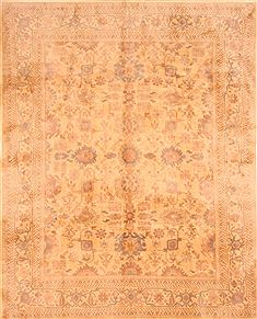 Chinese Tabriz Yellow Rectangle 8x10 ft Wool Carpet 29638