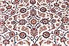 Isfahan White Hand Knotted 86 X 125  Area Rug 254-29664 Thumb 3