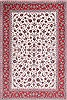 Isfahan White Hand Knotted 86 X 125  Area Rug 254-29664 Thumb 0