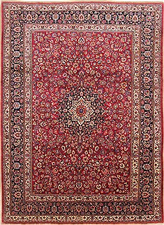 Persian Mashad Red Rectangle 8x11 ft Wool Carpet 29668