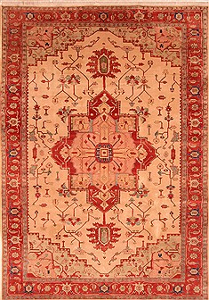 "Heriz Beige Hand Knotted 8'9"" X 12'9""  Area Rug 100-29695"
