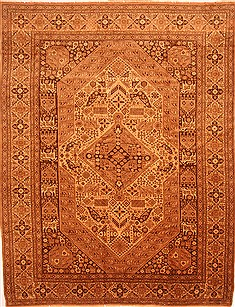 "Kurdi-Bof Brown Hand Knotted 10'0"" X 13'3""  Area Rug 100-29721"