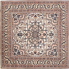 "Ardebil Purple Square Hand Knotted 5'0"" X 5'0""  Area Rug 254-29728"