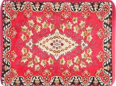 "Kashan Red Hand Woven 2'4"" X 3'2""  Area Rug 254-29746"