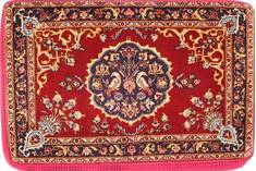 "Kashan Red Hand Woven 2'1"" X 3'2""  Area Rug 254-29747"