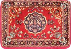 "Kashan Red Hand Woven 2'1"" X 3'2""  Area Rug 254-29748"
