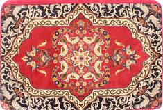 "Kashan Red Hand Woven 2'4"" X 3'5""  Area Rug 254-29750"