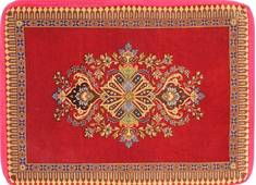 "Kashan Red Hand Woven 2'3"" X 3'2""  Area Rug 254-29751"