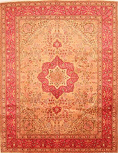 "Tabriz Red Hand Knotted 9'9"" X 12'10""  Area Rug 100-29752"