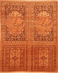 Persian Kurdi Brown Rectangle 9x12 ft Wool Carpet 29760