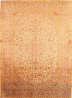 "Kashan Brown Hand Knotted 9'9"" X 13'3""  Area Rug 100-29794"
