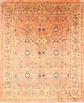 "Mahal Red Hand Knotted 9'10"" X 12'4""  Area Rug 100-29799"
