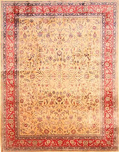 Chinese Isfahan Yellow Rectangle 9x12 ft Wool Carpet 29803