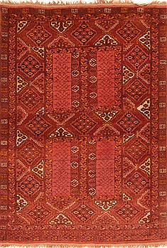 "Kunduz Red Hand Knotted 3'10"" X 5'6""  Area Rug 100-29823"