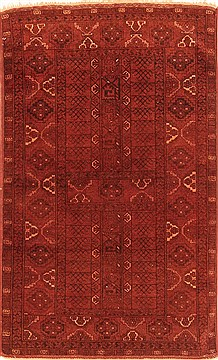 "Kunduz Red Hand Knotted 3'2"" X 5'4""  Area Rug 100-29861"