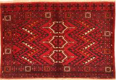 "Kunduz Red Hand Knotted 3'5"" X 5'4""  Area Rug 100-29871"