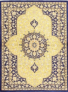 "Qum Beige Square Hand Knotted 1'10"" X 2'6""  Area Rug 254-29898"