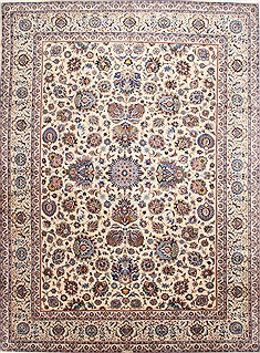 "Kashan Blue Hand Knotted 10'9"" X 15'0""  Area Rug 254-29916"