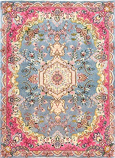 Persian Tabriz Beige Rectangle 2x3 ft Wool Carpet 29923