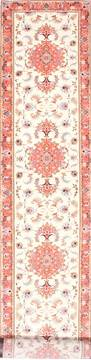 "Tabriz Purple Runner Hand Knotted 2'9"" X 16'2""  Area Rug 254-29941"