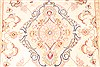 Tabriz Beige Runner Hand Knotted 210 X 134  Area Rug 254-29945 Thumb 2