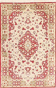 "Qum Red Hand Knotted 2'9"" X 4'0""  Area Rug 254-29955"