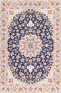 Persian Isfahan Blue Rectangle 3x4 ft Wool Carpet 29963